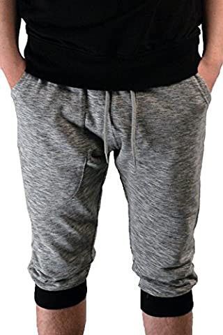 MENS 3/4 ELASTIC WAIST CARGO SUMMER SHORTS TROUSERS PANTS WITH