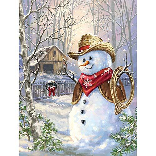 Diamant Mosaik Kreuzstich Kits Weihnachten Schneemann Cowboy Diamant Stickerei Geschenk voller Diamanten Malerei Raumdekoration