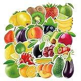 ZHANG 100 Adesivi per Frigorifero Adesivi per Frutta E Verdura Adesivi per Valigie Scuola Materna Scuola Materna Pittura Murale Adesivi per Valigia Adesivi per Chitarra