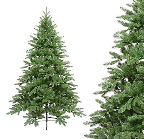 Künstlicher Weihnachtsbaum Tannenbaum Fichte PE Spritzguss + PVC Mix, 150cm