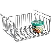 InterDesign York - Cubeta metálica para estante, color gris