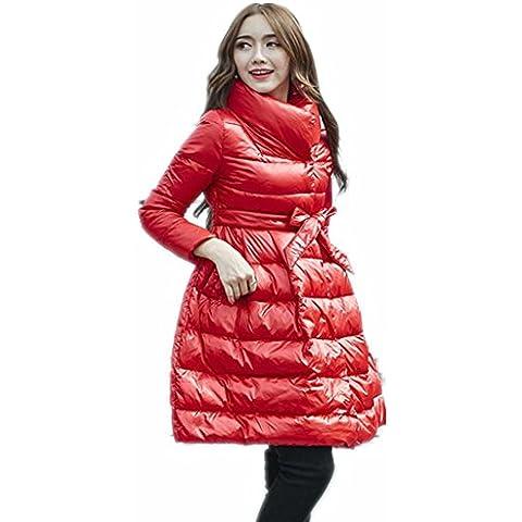ZYQYJGF Mujeres Embarazadas Swing Grande Globo Abajo Chaqueta Engrosamiento Capas Ártico Invierno Caliente Mediados De-Longitud . Red . L