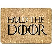 Freahap Felpudo Coco con Diseño Hold The Door Doormat 40 * 60 cm
