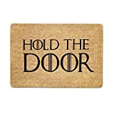Pinji Non Slip Doormat HOLD THE DOOR Welcome Floor Entrance Door Mat Indoor Outdoor 40×60cm