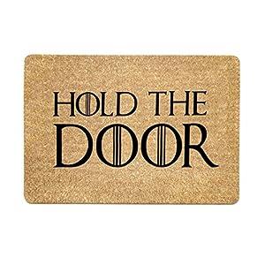 Freahap Felpudo con Diseño Hold The Door Doormat 40 * 60 cm 6