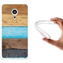 Funda Meizu PRO 5, WoowCase [ Meizu PRO 5 ] Funda Silicona Gel Flexible Pared de Madera, Carcasa Case TPU Silicona - Transparente