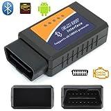 Robostore India Rsi Elm327 Bluetooth 2.1V Obd2 Vehicle Diagnostic Tool (Black)