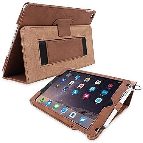 Étui iPad Pro 9.7, Snugg - Housse de Protection en Cuir Taupe Style Smart Case Avec Garantie à Vie Pour Apple iPad Pro 9.7