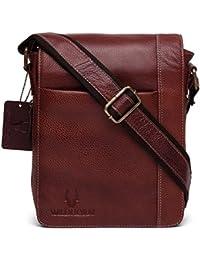 WildHorn Urban Edge Men s Vintage Leather Brown Messenger Bag Dimension   L-8.5 d9c82ca4357b9