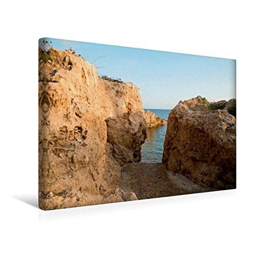 Preisvergleich Produktbild Premium Textil-Leinwand 45 cm x 30 cm quer, Zugang zu Felsenbucht, Südwesten Zyperns | Wandbild, Bild auf Keilrahmen, Fertigbild auf echter Leinwand, Leinwanddruck (CALVENDO Orte)