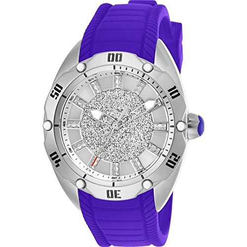 Invicta Women's Venom Purple Silicone Band Steel Case Quartz Watch 26151
