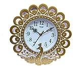 #5: kangroo Designer Pride Quartz Golden Wall Clock/Watch For Beautiful Home/Office (30 cm x 3 cm x 30)