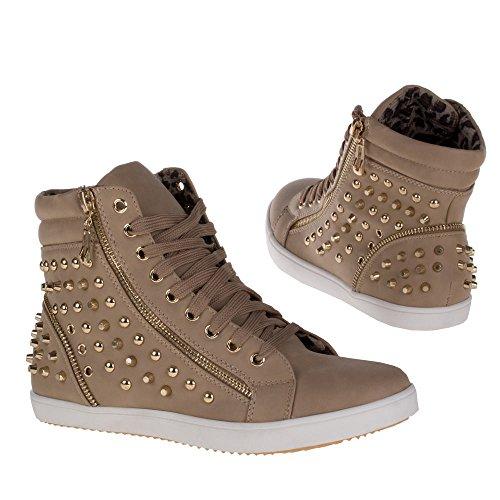 Damen Schuhe, FREIZEITSCHUHE BOOTS BOOTIES Braun BL1596-