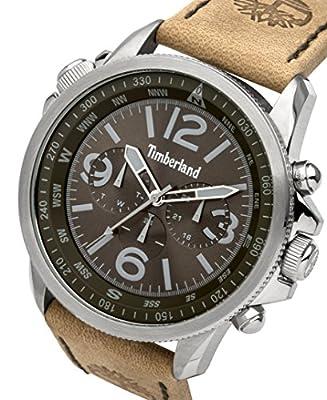 Para hombre Timberland a Campton reloj infantil de cuarzo con esfera cronográfica y correa de piel color marrón 13910js/19 de Timberland