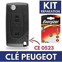 Carcasa para mando a distancia Plip llave Peugeot 107207308307, 407, 8073008Partner ✚ pila CR1620Energizer