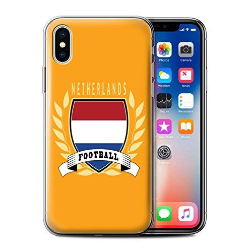Stuff4 Gel TPU Hülle / Case für Apple iPhone X/10 / Italien/Italienisch Muster / Fußball-Emblem Kollektion Niederlande