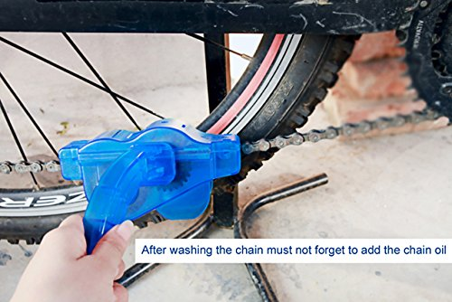 Fozela Fahrrad Kettenreinigungsgerät / Fahrradreiniger / Kettenwäscher / Fahrradkettenreiniger– Schnelles sauberes Werkzeug für Alle Arten von Fahrrad Ketten - 5
