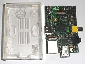 SCHEDA RASPBERRY PI B 512 MB CON CONTENITORE ORIGINALE TRASPARENTE INCLUSO