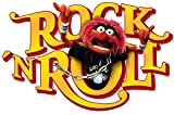 Komar 14010h Muppets Tier Rock´n´Rol Deco-Sticker, orange/rot, 50 x 70 cm