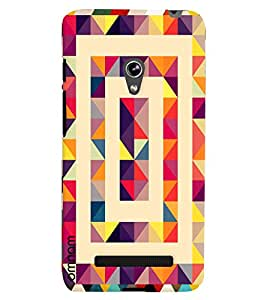 Omnam pyramid Pattern printed light design with effect for Asus Zenfone 5