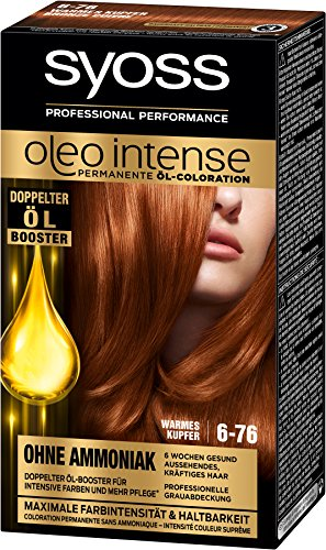 Syoss Oleo Intense 6-76 Warmes Kupfer Haarfarbe, 3er Pack (3 x 115 ml)