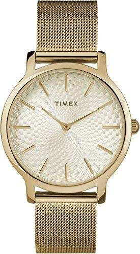 Timex Damen Analog-Digital Quarz Uhr mit Edelstahl Armband TW2R36100