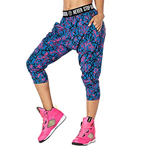 Zumba Fitness Dance Gypsy Harem Femme, Shocking Pink, FR : XL (Taille Fabricant : XL)
