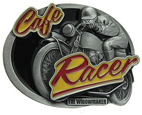 Boucle de ceinture Cafe Racer, The Widowmaker en un de mes présentation en coffrets.