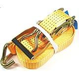 1 x 5000 kg SPANNGURT 8m EN 12195-2 Ratsche Zurrgurt Spanngurte Ratschenspanngurt Zweiteilig 5 T