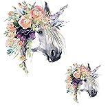 Manyo 1 Stück DIY Druck Pferd Stickerei Applikation Für Decoreting und Patching Jacket, T-Shirt, Jeans, Hut, Kleid. (S)