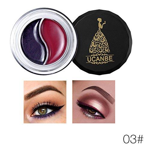 OYOTRIC 2 en 1 Eyeliner gel imperméable à l'eau longue durée avec Brush Eyebrow crème cosmétiques Kit