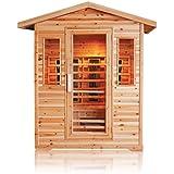 Cabina de infrarrojos/calor cabina/sauna–Esquina. 3personas Exteriores Outdoor