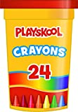 #5: PlaySkool 24 - Count Crayons With Tub For Kids Art Set