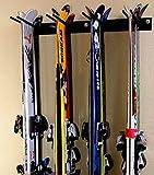 Malayas, rastrelliera con montaggio a parete per sci, snowboard, attrezzi per giardinaggio, scope, mazze da golf, pale, vanghe