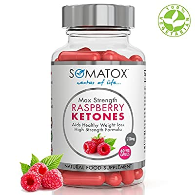 SOMATOX RASPBERRY KETONE Pure Whole Fruit - Natural Weight Loss • Burn Fat • Slimming Diet Pills • Appetite Suppressant ? Max Strength 700mg / 60 Veg Caps ? Made In UK (FREE eBOOK) from Somatox