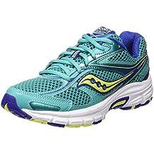 Saucony Cohesion 8 - Zapatillas de running para mujer, color verde / azul / amarillo