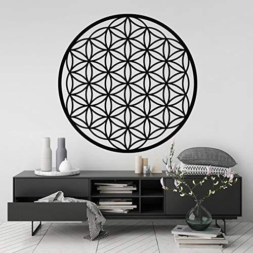Adesivi artistici BFMBCH, simboli spirituali decorativi geometrici, decalcomanie in vinile rimovibili, murales, decorazioni per la casa, adesivi murali per la casa e il giardino, 10 fard, 57x57 cm