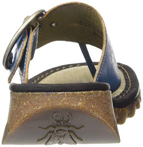 Fly London Trim, Heels Sandals Donna Turchese (Azure (Black)