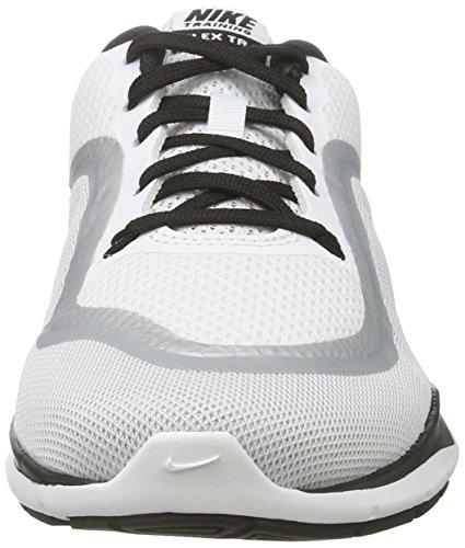 Nike Flex Trainer 6, Chaussures de Fitness Femme Blanc (White/black-mtlc Platinum)