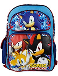 sonic the hedgehog blue 16 backpack boys school bag