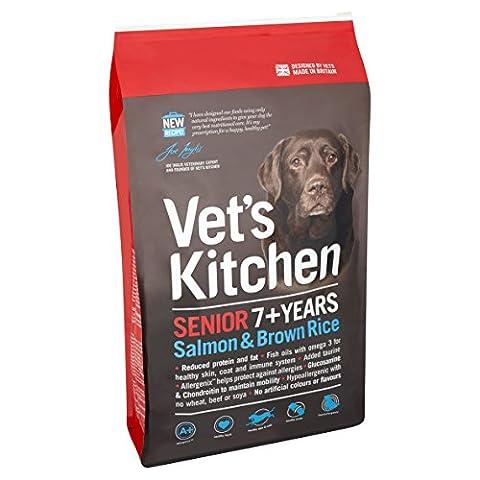 Vet's Kitchen Dog Food Salmon & Brown Rice Complete Senior