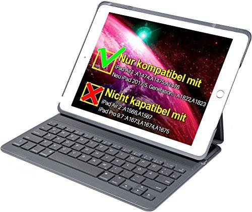 Inateck Tastatur + Hülle für das neue iPad 9,7 oder das iPad Air1, Keyboard Case mit automatischer wake/sleep- und Mulit-Angle- Ständer-Funktion(BK2003-DG) Angle Ständer Für Laptop
