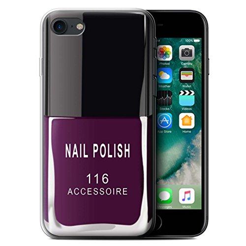 Stuff4® Gel TPU Hülle/Case für Apple iPhone 7 / Lila Muster/Nagellack/Make-Up Kollektion (Handy-back-up-kamera)