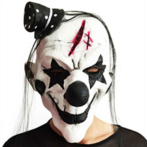 Schwarz-Wei?-Scary Clown-Maske Full Face Cosplay Horror Masquerade Adult Ghost Maske