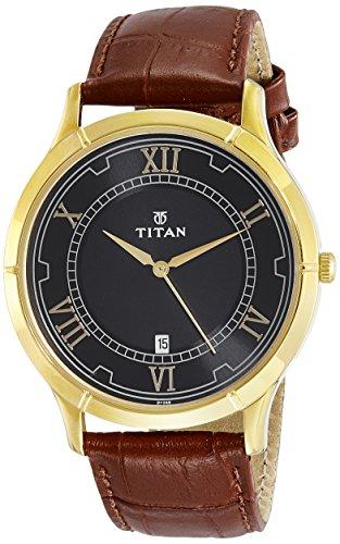 Titan Karishma Analog Black Dial Men's Watch – 1775YL01