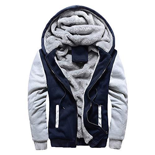 BaZhaHei Herren Jacke Hoodie Winter Warm Fleece Zipper Sweater Jacke Outwear Coat Winterparka Kapuzenjacke Männer Winterkleidung Baseball-Uniform Sportjacke