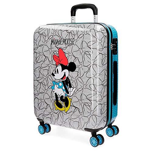 Maleta Disney Minnie Equipaje Infantil, 55 cm, 33 litros, Azul