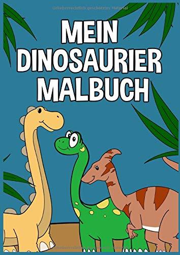buch: Dino Malbuch für Kinder und Erwachsene I Süße Dinos zum Ausmalen I Format A 4 ()