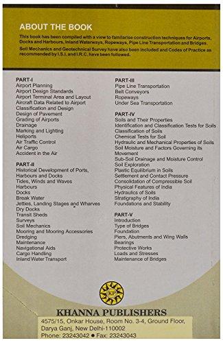 Transportation Engineering Vol II [Paperback] [Jan 01, 2015] V N Vazirani and...