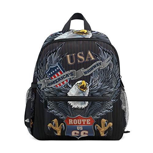 Kinderrucksack, Leichte Vorschule Tasche f¨¹r Kinder M?dchen Jungen, American Eagle Design Tasche